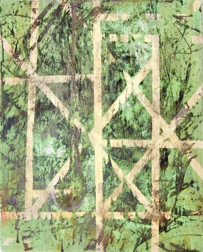 Abstract art painting: INDUSTRIAL JUNGLE  80 x 100 CM