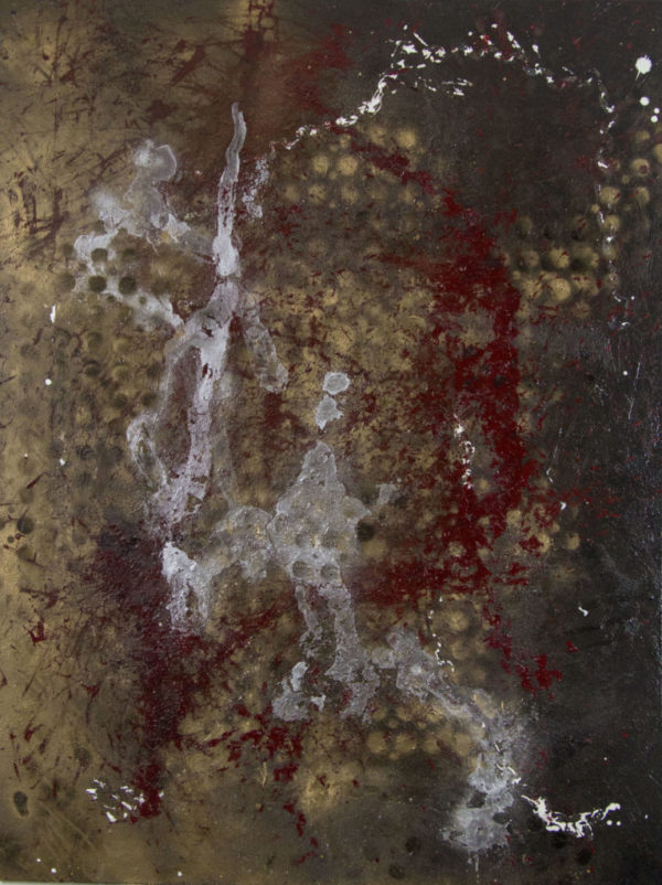 Abstract art painting: DEER HUNT  90 x 120 CM