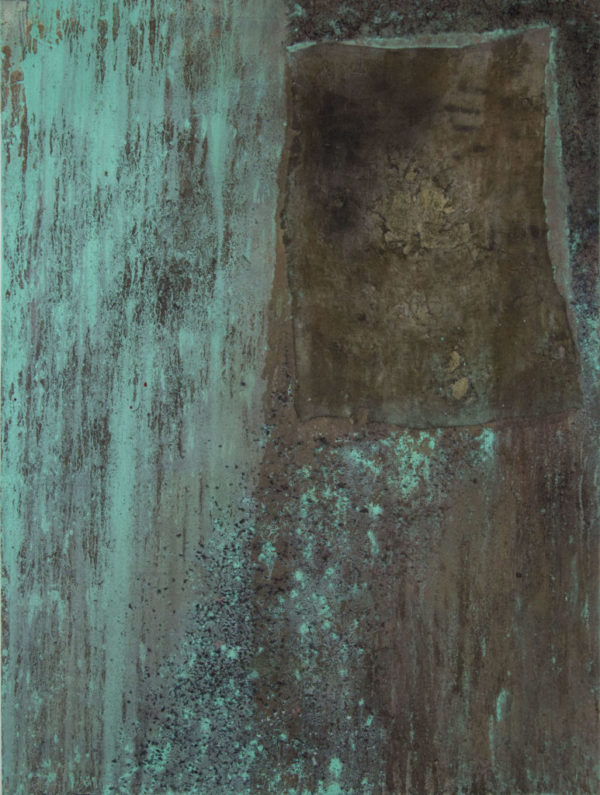 Abstract art painting: GREEN LADY  90 x 120 CM